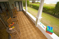 Oceanfront Lanai Stock Images