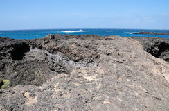 Oceanfront Lava Platform Royalty Free Stock Photos