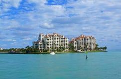 Oceanfront resort. Large, luxurious oceanfront resort, Miami, Florida Royalty Free Stock Photo