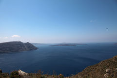 Oceanfront on Santorini island Royalty Free Stock Photography
