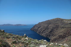 Oceanfront on Santorini island Stock Images