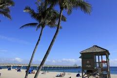 Oceanfront scenico della spiaggia di Deerfield Fotografia Stock