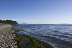 Oceanfront View. An oceanfront view of Crescent Beach in British Columbia's South Surrey district Stock Images