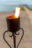 Oceanfront Wedding Torch Stock Photos
