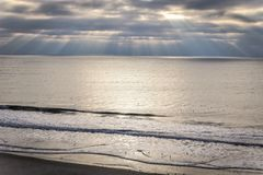 Oceanfrontmening Stock Afbeelding