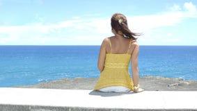 Oceangirl wijd (Panoramisch) royalty-vrije stock fotografie