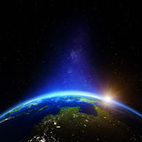 Oceania and Australia night. Elements of this image furnished by NASA Royalty Free Stock Image