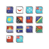Oceania Country Icon Set. Modern and sophisticated Oceania country icon set Royalty Free Stock Photos