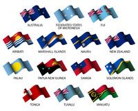 oceania flags Royalty Free Stock Photography