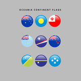 Oceania flags. Set of flags from oceania, Vector illustration Royalty Free Stock Photos
