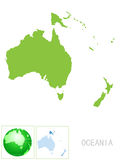 Oceania map and icon Royalty Free Stock Image