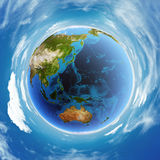 Oceania real relief model. Elements of this image furnished by NASA Stock Photography