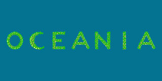 Oceania teksta tropikalna wyspa Zdjęcie Stock