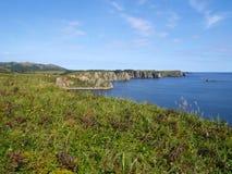 Oceanic coast of Shikotan island Stock Photos