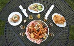 Oceanic Dinner Stock Photos