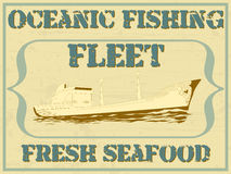 Oceanic fishing fleet Royalty Free Stock Photography