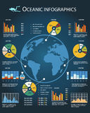 Oceanic infographics template Royalty Free Stock Image