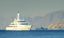 Oceanic motor yacht moored near Eilat, Israel Stock Photography