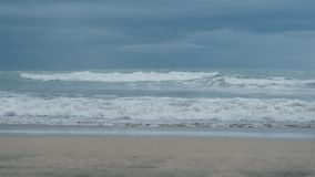 Oceanic view with big waves on Bali before the storm. Sea view with big waves on Bali stock video