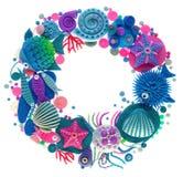 Oceanic wreath Stock Photo