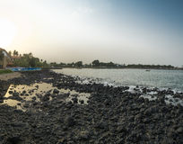 Oceaniczny basen na tropikalnej wyspie sao wolumin Obrazy Royalty Free