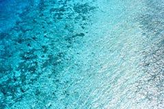 Oceanisk sikt för Maldiverna ö Arkivfoto