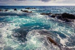 Oceano áspero foto de stock royalty free