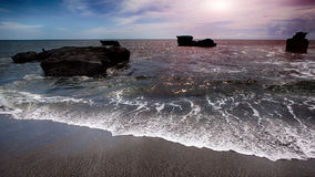 Oceano Índico no por do sol Imagens de Stock Royalty Free