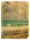 Oceano Índico, Seychelles. Cartão velho. Imagens de Stock Royalty Free