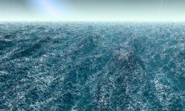 Oceano agitado ilustração stock