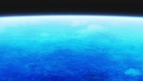 Oceano al pianeta illustrazione vettoriale