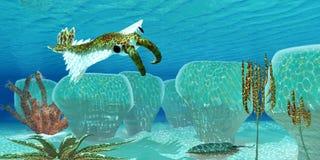 Oceano Anomalocaris Foto de Stock Royalty Free