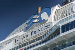 Oceano ao cruiseDetail do oceano da princesa da ilha na âncora fora de Puerto Amador Panamá fotos de stock royalty free