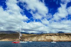 Oceano Atlântico fora da costa de Tenerife fotografia de stock royalty free
