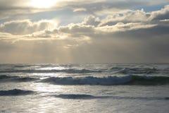Oceano Atlântico no inverno Fotografia de Stock