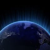 Oceano Atlantico 3d rende illustrazione di stock