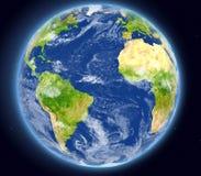 Oceano Atlantico da spazio royalty illustrazione gratis