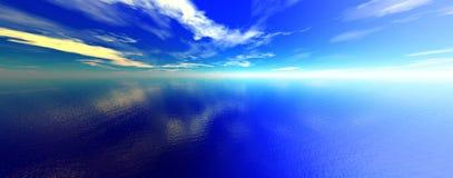 Oceano azul Fotos de Stock