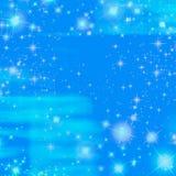 Oceano azul da cintilação do céu da faísca ilustração do vetor