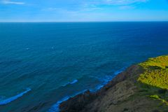 Oceano azul infinito foto de stock royalty free