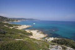 Oceano azzurrato - panorama fotografie stock