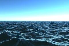Oceano blu scuro con il beautifu Fotografia Stock Libera da Diritti