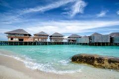Oceano blu a sei sensi Maldive immagini stock libere da diritti