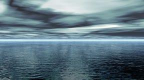 Oceano calmo ilustração royalty free