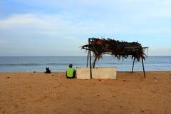 Oceano calmo dell'India Fotografie Stock