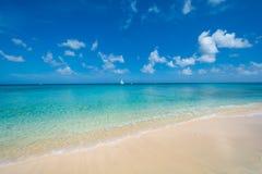 Oceano caraibico blu Fotografia Stock