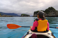 Oceano che kayaking Fotografia Stock Libera da Diritti