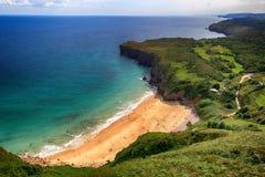 oceano da praia da paisagem nas Astúrias, Espanha Foto de Stock