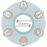 oceano da rotulação Imagens de Stock Royalty Free