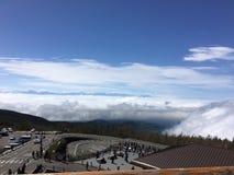 Oceano das nuvens Fotografia de Stock